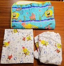 Nickelodeon SpongeBob SquarePants 2004 Quilted Blanket, Flat & Fitted Sheet - $48.37