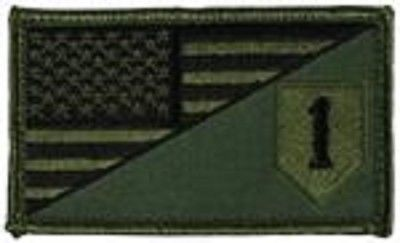 Primary image for ARMY 1ST INFANTRY OD GREEN FLAG 2 X 3  EMBROIDERED PATCH WITH HOOK LOOP
