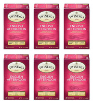 Twinings of London English Afternoon Black Tea Bags, 20 Count - Pack of 6 - $22.56