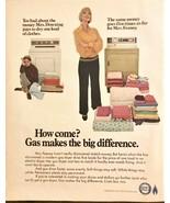 ORIGINAL 1968 American Gas Association Print Ad The Modern Gas Dryer - $11.16