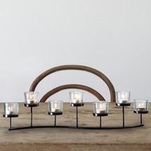 Adeco Iron Horizontal Table Standing Candle Pillar Holder - Seven Tealights - $41.99