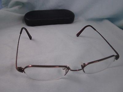 2ad108083e6 1. 1. Previous. FLEXON by MARCHON Rx Eyeglasses Metal Frames 443 Half Rim  Brown Light Espresso