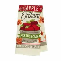 Set of 2 Harvest Themed Kitchen Towel Apple Orchard Fresh Cider w - $6.99