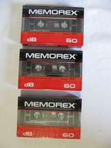 SEALED SET OF 3 MEMOREX dB 60 NORMAL POSITION CASSETTE TAPE 90m - $8.95