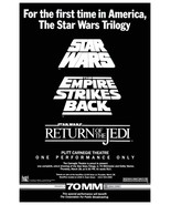 "Star Wars Movie 1985 ""Trilogy One Time Only"" Movie Stand-Up Display - Sc... - $16.99"