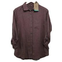 prAna Aster Tunic Women's S M L Red Dark Mauve New Button Shirt 88976056... - $25.46