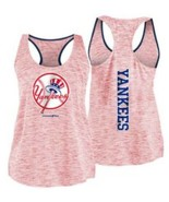 MLB New York NY Yankees Women's Space Dye Red Racerback Tank Top Plus Si... - $19.50