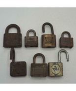 Vintage Lot of 7 Padlock Lock Yale Fraim etc. - $24.74