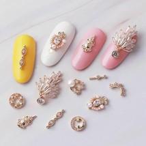 5pcs Metal Nail Art Decorations With Luxury Zircon Rhinestones Manicure ... - $13.21+