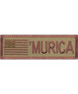"Subdued 'Murica American Flag Patch 4"" x 1-1/8"" - $6.49"