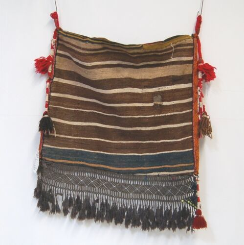 Genuine Hand Woven Pillow Bag Browns Tassel 22 by 26 Inches