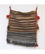 Genuine Hand Woven Pillow Bag Browns Tassel 22 by 26 Inches - $326.00