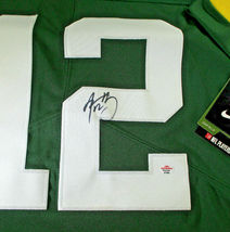AARON RODGERS / AUTOGRAPHED GREEN BAY PACKERS PRO STYLE FOOTBALL JERSEY / COA image 4