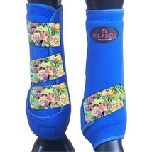 M - Hilason Horse Medicine Sports Boots Rear Hind Leg Royal U-US-M - $65.33
