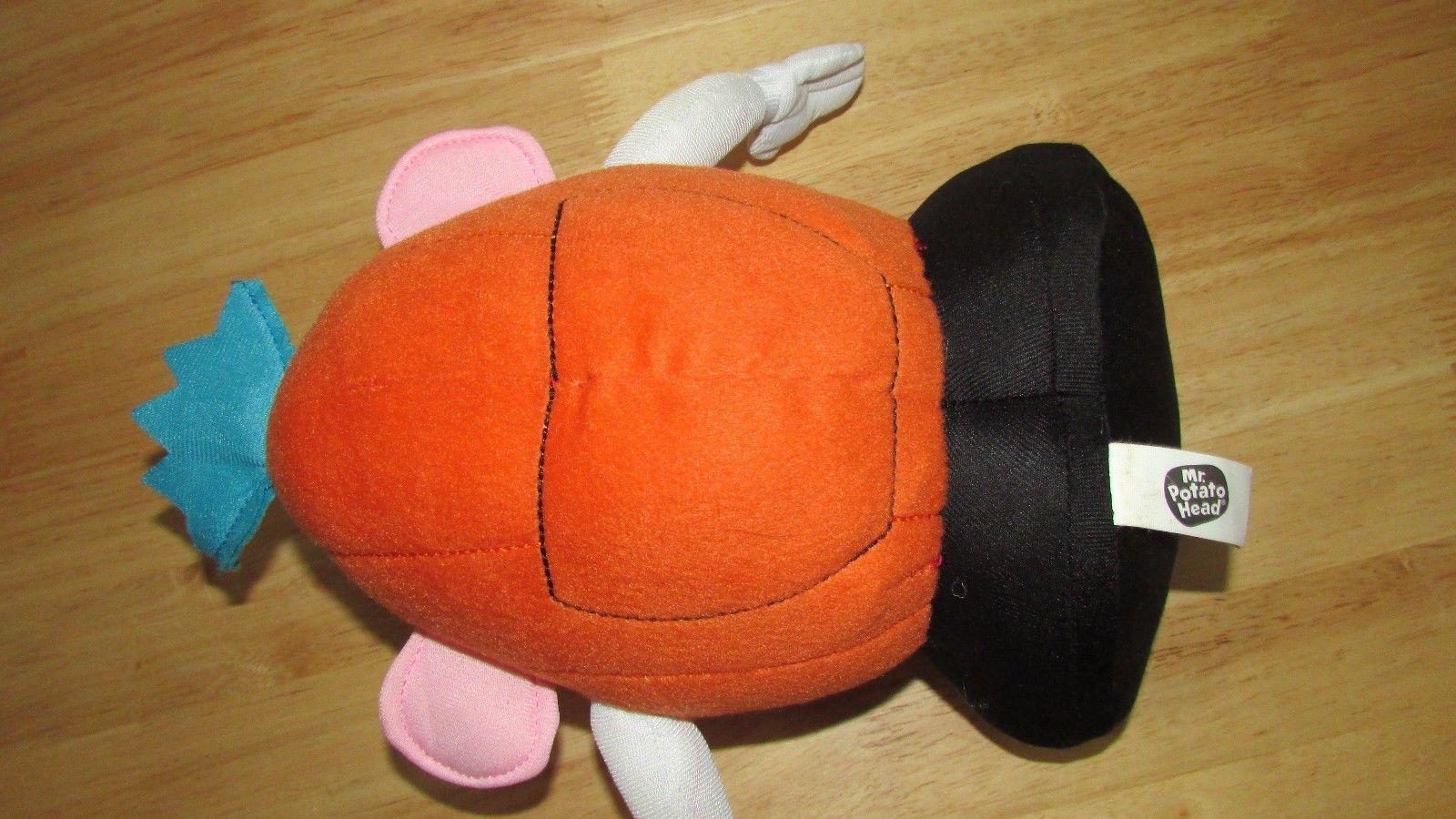 "Plush Hasbro 11"" Mr. Potato Head pumpkin jack o lantern Halloween  toy or decor"