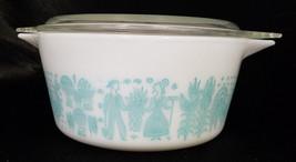 Vintage Pyrex 1.5 Quart Butterprint Turquoise Casserole Dish (Circa 1960'S) - $33.30