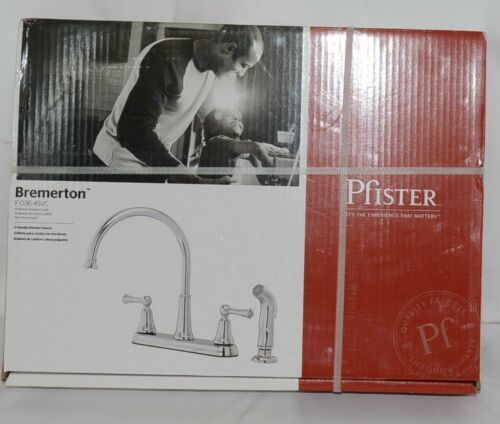 pfister Bremerton F0364SVC 36 Series 2 Handle Polish Chrome Kitchen Faucet
