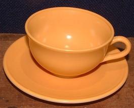 1950's Hazel Atlas Cup And Saucer Ovide Butterscotch - $6.92