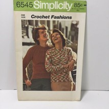 Simplicity Crochet Fashions 6545 Misses' Men's Pullover Sweater  - $11.64