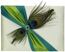 peacock design guest book and pen set wedding guests signatures sign in ... - $32.65