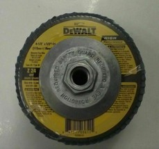 "Dewalt DW8337 4-1/2"" x 5/8-11 Zirconia Flap Wheels Z24 Grit 5pcs - $15.84"