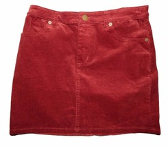 Forever 21 Burgundy Skirt Size S Cotton Womens - $7.87