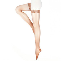 Mediven Sheer and Soft 15-20 mmHg Thigh w/ Lace Silicone Top Band CT Tof... - $60.98