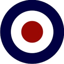 """RAF Roundel Current Decal 4"""" Wide x 4"""" High - $11.87"""