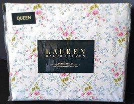 Ralph Lauren Pink Blue Green French Country Floral Sheet Set Queen - $131.00