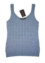 NWT Ralph Lauren Black Label Silk Cable Knit Tank Top Shell M - $40.49