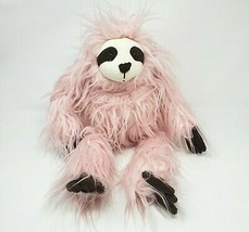 "18"" Big 2019 Animal Adventure Target Baby Pink Fuzzy Sloth Stuffed Plush Toy - $36.47"