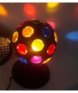 Lighted Color Rotating house Party Ball Lamp Spinning Disco Dance Light ... - $50.13