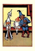 Tin Man, Dorothy and Scarecrow by John R. Neill - Art Print - $19.99+