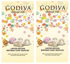 Godiva Limited Edition Birthday Cake Truffles 3.6oz 2 Pack