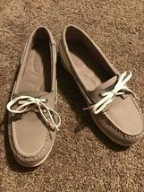 Sperry Womens Shoresider STS94056 Boat Shoe Size 8 Greige Loafer Lightwe... - $34.64