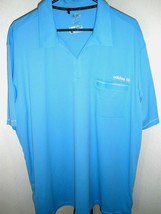 New Men's Adidas Golf Tailored Sky Blue Polo Size 2XL NICE! - $35.63