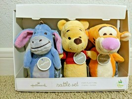 Hallmark Plush Winnie the Pooh, Eeyore, and Tigger Rattle Set Chime Sque... - $39.99