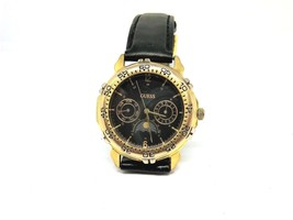 90s Retro GUESS Black Sun Moon Phase Unisex Watch Cleaned New Battery In... - $64.35