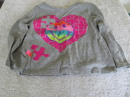 Garanimal's Heart Puzzle Gray Long Sleeve Shirt... - $3.95