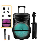 Trexonic Combination 15 Inch Bluetooth Portable Speaker and Tripod Stand... - $186.97