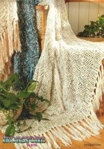 Ironstone SANTA FE and NANTUCKET 5 Strand Cotton Throws Crochet Patterns... - $6.92