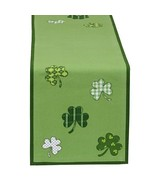 Shamrock Table Runner Topper Party Decor Tablecloth Green Polyester Luck... - $29.65