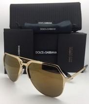 New DOLCE & GABBANA Sunglasses DG 2151 K440/F9 18K Gold Plated Aviator w... - $572.66