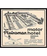 Plainsman Motel Ad Rt66 Amarillo Texas 1964 Roadside Ad Route 66 Travel - $10.99