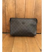 Authentic GUCCI Graphite GG Monogram Clutch Bag - $325.00