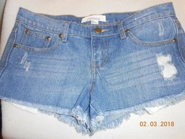 NEW Forever 21 mini jean shorts denim size 25 distressed cutoff pockets ... - $7.43