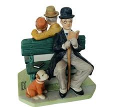 Norman Rockwell figurine vtg Danbury Mint Sculpture 12 Saturday Post Par... - $58.00
