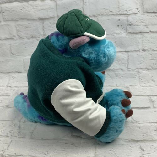 "Monsters Inc. 12"" Sully Plush w/ Varsity Jacket Disney Store Genuine Original image 8"