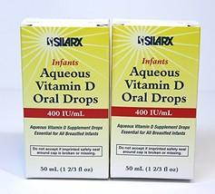 Infants Aqueous Vitamin D Oral Drops 400IU/ml 2-Pak 2 x 50ml
