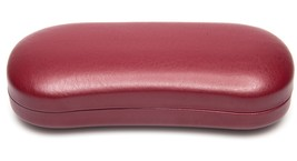 NEW Clam Shell Burgundy /Red Eyeglasses Glasses Hard Case w/ Cloth 155x7... - $4.93